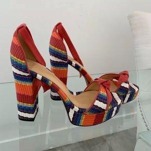 Alexandre Birman Striped Heels